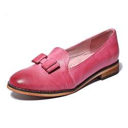 Mona flying Damen Leder Slipper Penny Loafers Mokassins Fashion Halbschuhe von Mona flying