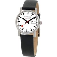 Mondaine Big Date Swiss Railways Damenuhr in Schwarz A6693030511SBB von Mondaine