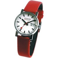 Mondaine Swiss Railways Big Date Damenuhr in Rot A6693030511SBC von Mondaine