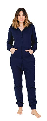 Moniz Damen Jumpsuit (L, Midnight Navy) von Moniz