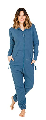 Moniz Damen Jumpsuit (XL, Jeans Blau) von Moniz