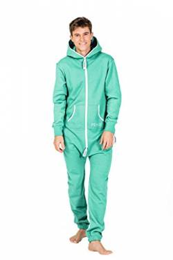 Moniz Herren Jumpsuit (L, Mint) von Moniz