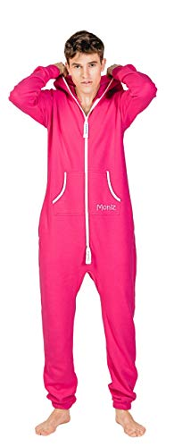 Moniz Herren Jumpsuit (XL, Pink) von Moniz