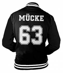 Herren College Jacke Mücke Buddy Movie Star Film, 63 Baseballjacke von Monkey Print