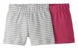 Moon and Back by Hanna Andersson 2 Pk Infant-and-Toddler-Shorts, dunkelrosa, US 3T (EU 98–104) von Moon and Back by Hanna Andersson