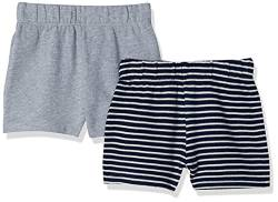 Moon and Back by Hanna Andersson 2 Pk Infant-and-Toddler-Shorts, grau meliert, 18-24 mos von Moon and Back by Hanna Andersson