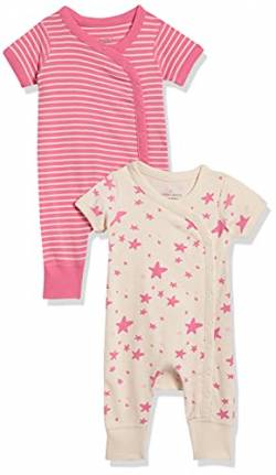 Moon and Back by Hanna Andersson 2 Pk Romper Infant-and-Toddler-Layette-Sets, Mittelrosa, US NB (EU 56-62) von Moon and Back by Hanna Andersson