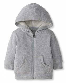 Moon and Back by Hanna Andersson Baby Kapuzen-Sweatshirt, Grau meliert, 3-6 Monate (56-67 CM) von Moon and Back by Hanna Andersson