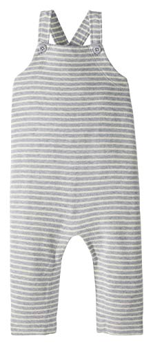 Moon and Back by Hanna Andersson Knit Infant-and-Toddler-Overalls, Graue Streifen, 12-18 mos von Moon and Back by Hanna Andersson