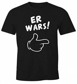 MoonWorks Herren T-Shirt Er Wars Spruch Comic Hand Fun-Shirt schwarz L von MoonWorks