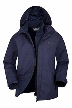 Mountain Warehouse Fell Wasserfeste 3 in 1 Herren Winterjacke, Warmer Fleecejacke, Regenjacke, Herrenjacke, Funktionsjacke, Allwetterjacke, Doppeljacke, Übergangsjacke, Winter Marineblau XS von Mountain Warehouse