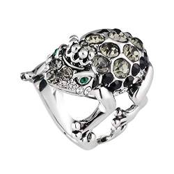 Comie Damen Ring, Ringe Fashion Basic Ehering Embellished with Crystals Eheringe Bling Trauring Edelstahlringe Ewige Hochzeitsring Schöner Schmuck für Frauen Valetinstag Geschenk von Mumuj