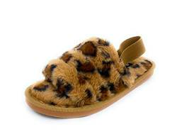 Sole Collection Damen Fuzzy Fur Slide Slipper Indoor Outdoor, (Brlp01), Medium von NAVIG8
