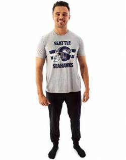 NFL Teams Seattle Seahawks Helm Herren Langes Pyjama T-Shirt & Lounge Pant Set von NFL
