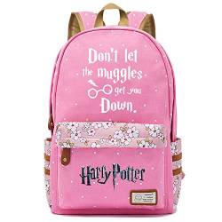 NYLY Mädchen Floral Rucksack Frauen Mode Dating Shopping Reise Rucksack Notebook Casual Daypacks, Harry Potter Series Pack M (Rosa) Stil-11 von NYLY