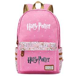 NYLY Mädchen Floral Rucksack Frauen Mode Dating Shopping Reise Rucksack Notebook Casual Daypacks, Harry Potter Series Pack M (Rosa) Stil-12 von NYLY