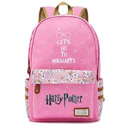 NYLY Mädchen Floral Rucksack Frauen Mode Dating Shopping Reise Rucksack Notebook Casual Daypacks, Harry Potter Series Pack M (Rosa) Stil-14 von NYLY