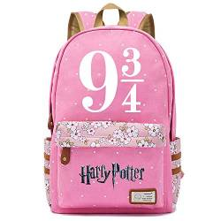NYLY Mädchen Floral Rucksack Frauen Mode Dating Shopping Reise Rucksack Notebook Casual Daypacks, Harry Potter Series Pack M (Rosa) Stil-5 von NYLY