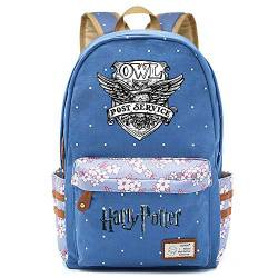 NYLY Mädchen Floral Rucksack Frauen Mode Dating Shopping Reise Rucksack Notebook Casual Daypacks, Harry Potters Eulenpackung L (Blau) Style-5 von NYLY