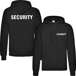 T-Shirt Security | Crew | Ordner | WUNSCHTEXT | Poloshirt | Hoodie | Jacke | Warnweste (XL, Security - Hoodie) von Nashville print factory