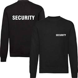 T-Shirt Security | Crew | Ordner | WUNSCHTEXT | Poloshirt | Hoodie | Jacke | Warnweste (XL, Security - Sweatshirt) von Nashville print factory