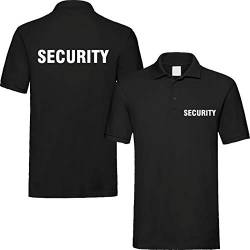 T-Shirt Security | Crew | Ordner | WUNSCHTEXT | Poloshirt | Hoodie | Jacke | Warnweste (5XL, Security - Poloshirt) von Nashville print factory