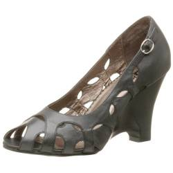 Naughty Monkey Damen Wink Wedge, Schwarz (schwarz), 40.5 EU von Naughty Monkey