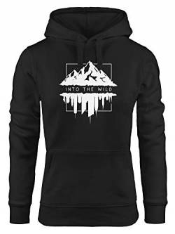 Neverless Hoodie Damen Into The Wild Berge Skyline Kapuzen-Pullover Frauen schwarz M von Neverless