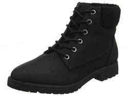 New Look Damen Barber- Shearling Kurzschaft Stiefel, Schwarz (Black 1), 42 EU von New Look