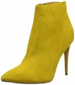 New Look Damen Crumble Kurzschaft Stiefel, Gelb (Bright Yellow 85), 38 EU von New Look