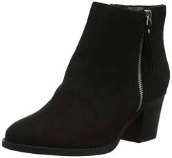New Look Damen Wide Foot Brassy Kurzschaft Stiefel, Schwarz (Black 1), 40 EU von New Look