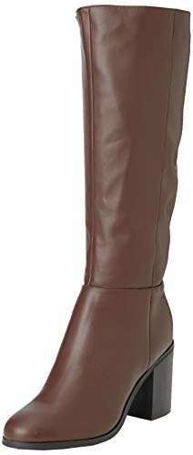 New Look Damen Wide Foot Dapper Hohe Stiefel, Braun (Mid Brown 24), 38 EU von New Look