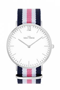 New Trend - Love for Accessories Damen Uhr analog Quarzwerk mit Nylon-Armband 85-O3A1-TW75 von New Trend - Love for Accessories