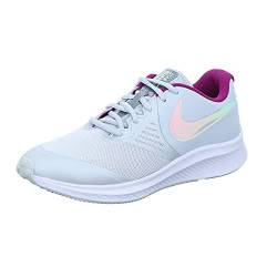Nike Star Runner 2 Running Shoe, Pure Platinum/Multi-Color-Barely Volt-Red Plum-White, 40 EU von Nike