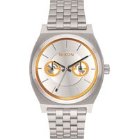 Nixon BB-8 Orange/Black The Time Teller Deluxe SW BB-8 Silver / Unisexuhr in Silber A922SW-2604 von Nixon