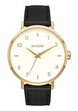 Nixon Damen Analog Quarz Smart Watch Armbanduhr mit Leder Armband A1091-2769-00 von Nixon