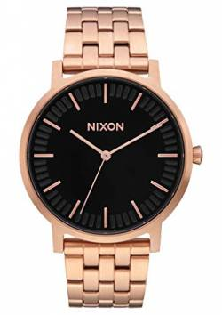 Nixon Armbanduhr Porter All Rose Gold / Black von Nixon
