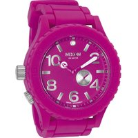 Nixon Shocking Pink The Rubber 51-30 Herrenuhr in Pink A236-644 von Nixon