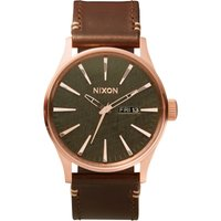 Nixon The Sentry Leather Herrenuhr in Braun A105-2001 von Nixon