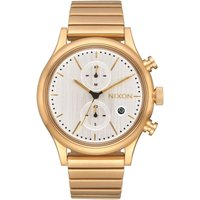 Nixon The Station Chrono Herrenchronograph in Gold A1162-2612 von Nixon