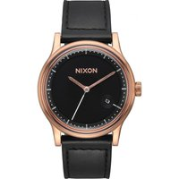 Nixon The Station Leather Herrenuhr in Schwarz A1161-1098 von Nixon