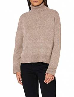 Noisy may Damen NMIAN L/S ROLL Neck Knit NOOS Pullover, Nomad Detail:MELANGÉ, M von Noisy may