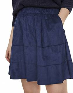 Noisy may Damen Nmlauren Skirt Noos Rock, Blau Dress Blues, 34 (Herstellergröße: XS) von Noisy may