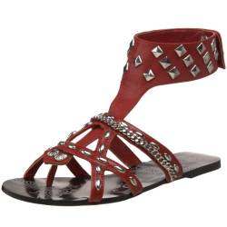 Not Rated Damen Street Scene Gladiator Sandalen, Rot (rot), 38 EU von Not Rated
