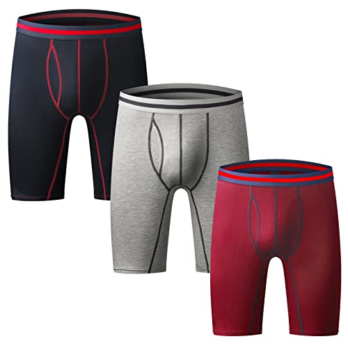 Summer Island/'s Herren 3er-pack Bequeme Passform Grau Boxer Shorts Unterhose