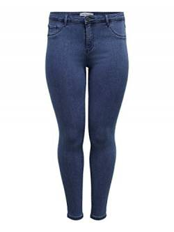 ONLY Carmakoma Damen carTHUNDER Push UP REG SK MBD NOOS Skinny Jeans, Blau (Medium Blue Denim), W39 (Herstellergröße: 50) von ONLY Carmakoma