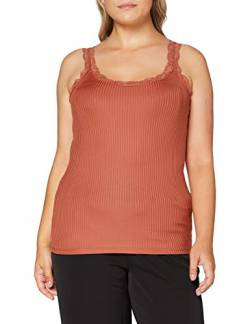 ONLY Carmakoma Womens CARMILO LACE S/L Tank TOP T-Shirt, Hot Sauce, XL-54 von ONLY Carmakoma