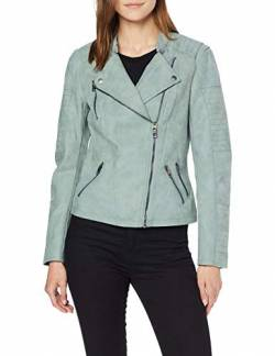 ONLY NOS Damen Jacke onlAVA FAUX LEATHER BIKER OTW NOOS,Grün (Chinois Green Chinois Green),36 von ONLY