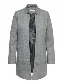 ONLY NOS Damen ONLSOHO COATIGAN OTW NOOS Mantel, Grau (Light Grey Melange), M von ONLY