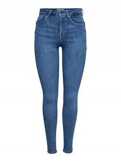 ONLY Damen ONLPOWER MID Push UP SK REA2981K NOOS Skinny Jeans, Blau (Light Blue Denim Light Blue Denim), 36/L30 (Herstellergröße: S) von ONLY